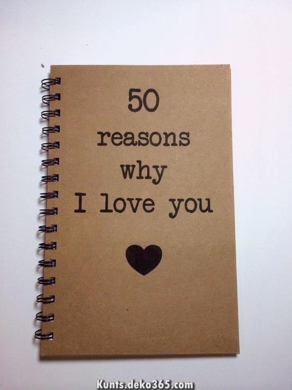 Gründe, warum ich dich mag, Notizbuch, Liebesnotizen